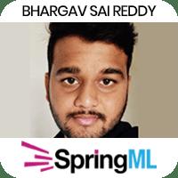 Bhargav Sai Reddy got placed in SpringML as Data Scientist