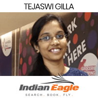 Tejaswi Gilla got placed in indian Eagel as Data Scientist