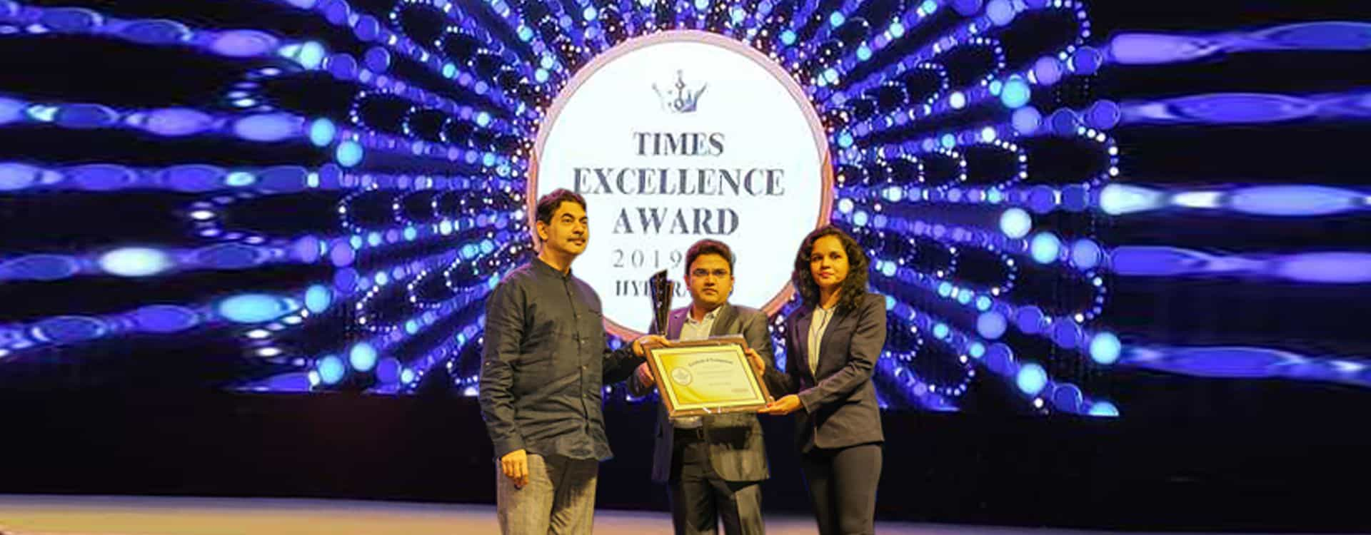 Times Excellence award 2019-2020 for Best Data Science Institute