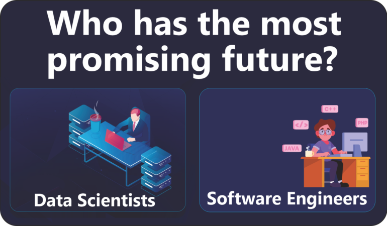 Which career is more promising: data scientist or software developer? Which is better in terms of salary and long term growth?